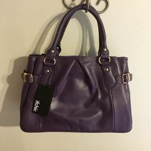 Handbags - New City Violet Leather Satchel